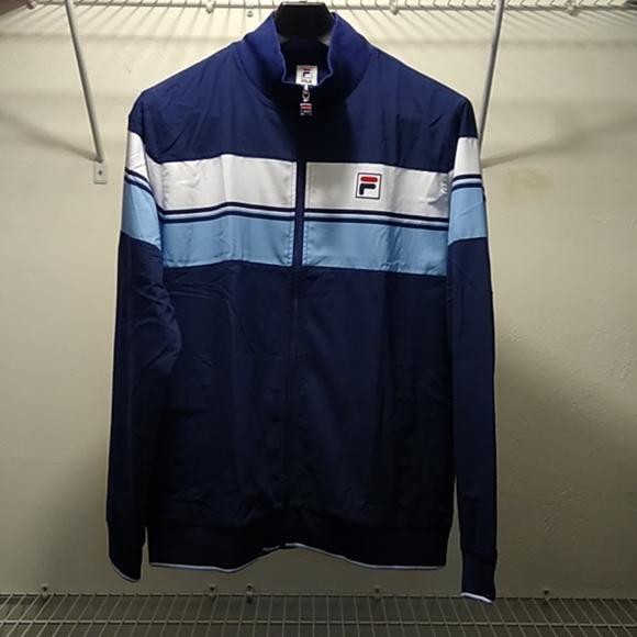 Fila Mens Legend Tennis Jacket Navy And